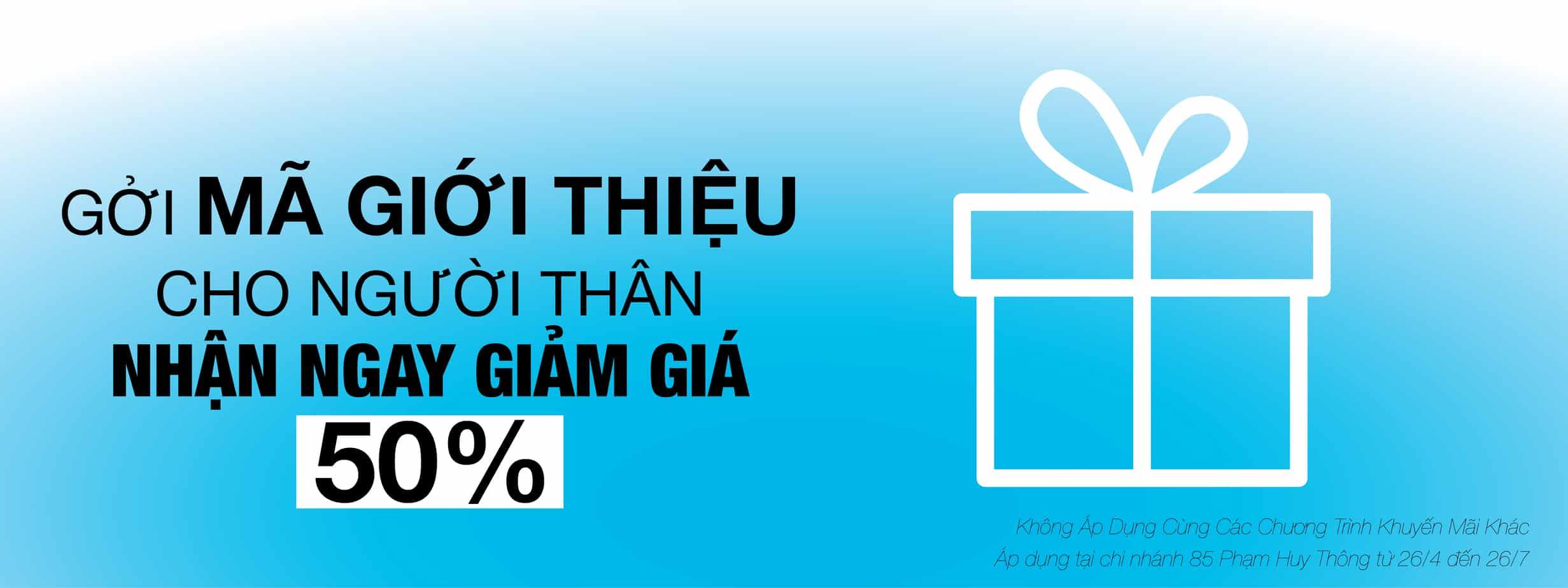 Khuyến Mãi Mùa Hè - Gởi Mã Giới Thiệu - Giảm Ngay 50% 12