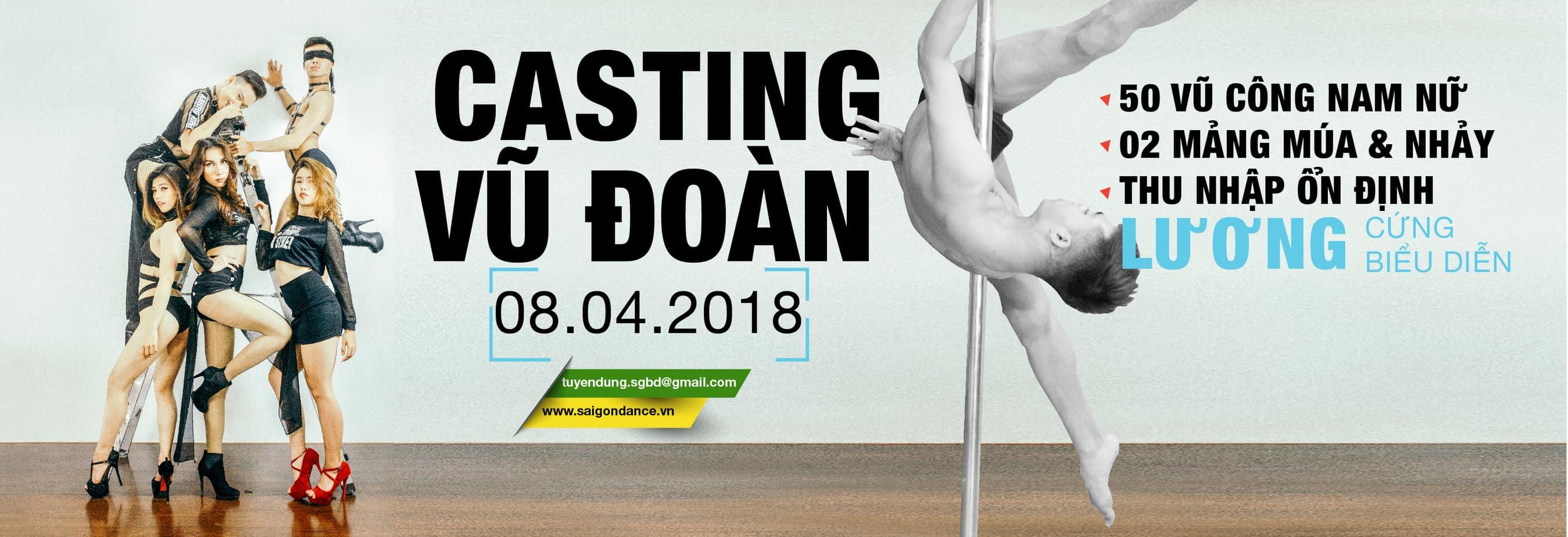 Thông báo tuyển dụng vũ công SaigonDance 10