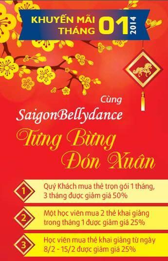 Tưng Bừng Khuyến Mãi Đón Xuân Cùng Saigonbellydance 42