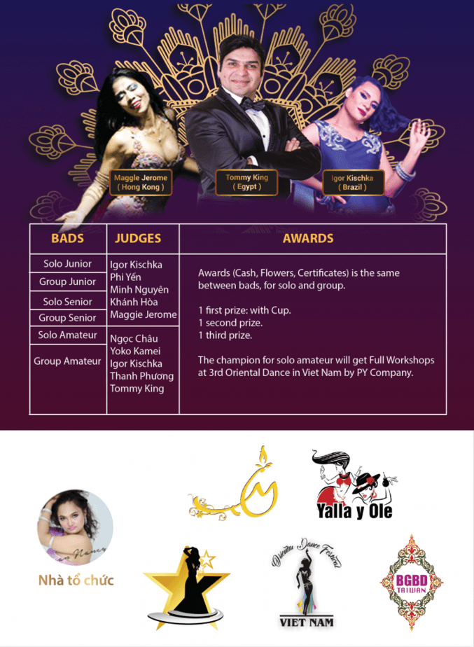 VIET NAM BELLY DANCE FESTIVAL 2018 COMPETITION RULES 2