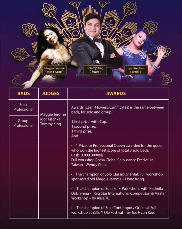VIET NAM BELLY DANCE FESTIVAL 2018 COMPETITION RULES 3