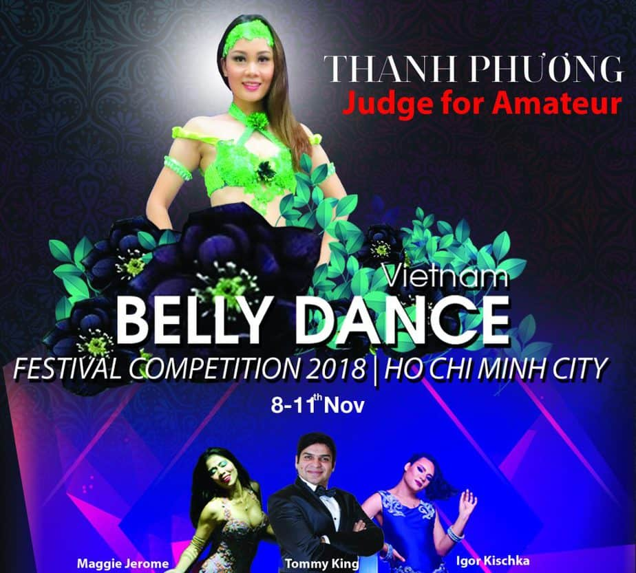 The judge panel of the Vietnam Belly Dance Festival 2018 5