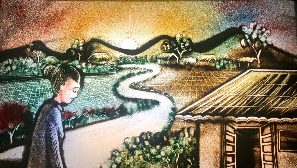 Cho Thuê Họa Sĩ Vẽ Tranh Cát Chuyên Nghiệp, Nghệ Sĩ Biểu Diễn Tranh Cát Động Mỡ Màn Sự Kiện 7